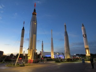 Rocket garden at twilight