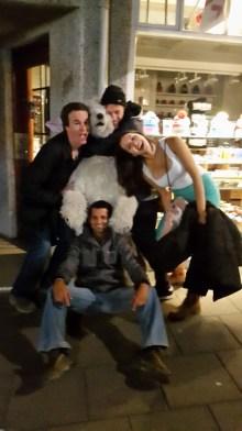 Tackled a polar bear