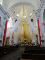 Inside the basillica