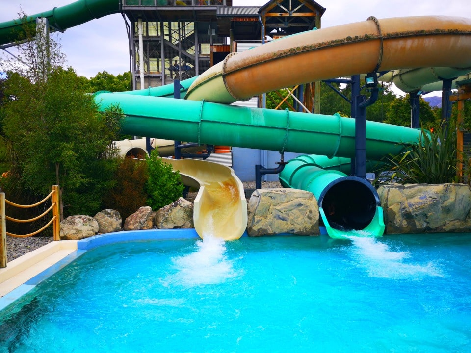 fast and slow slides at Hanmer springs