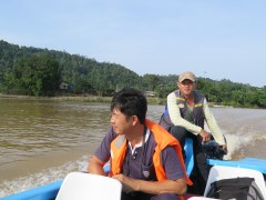 """Dozi and the captain, from the """"Riverman tribe."""""""