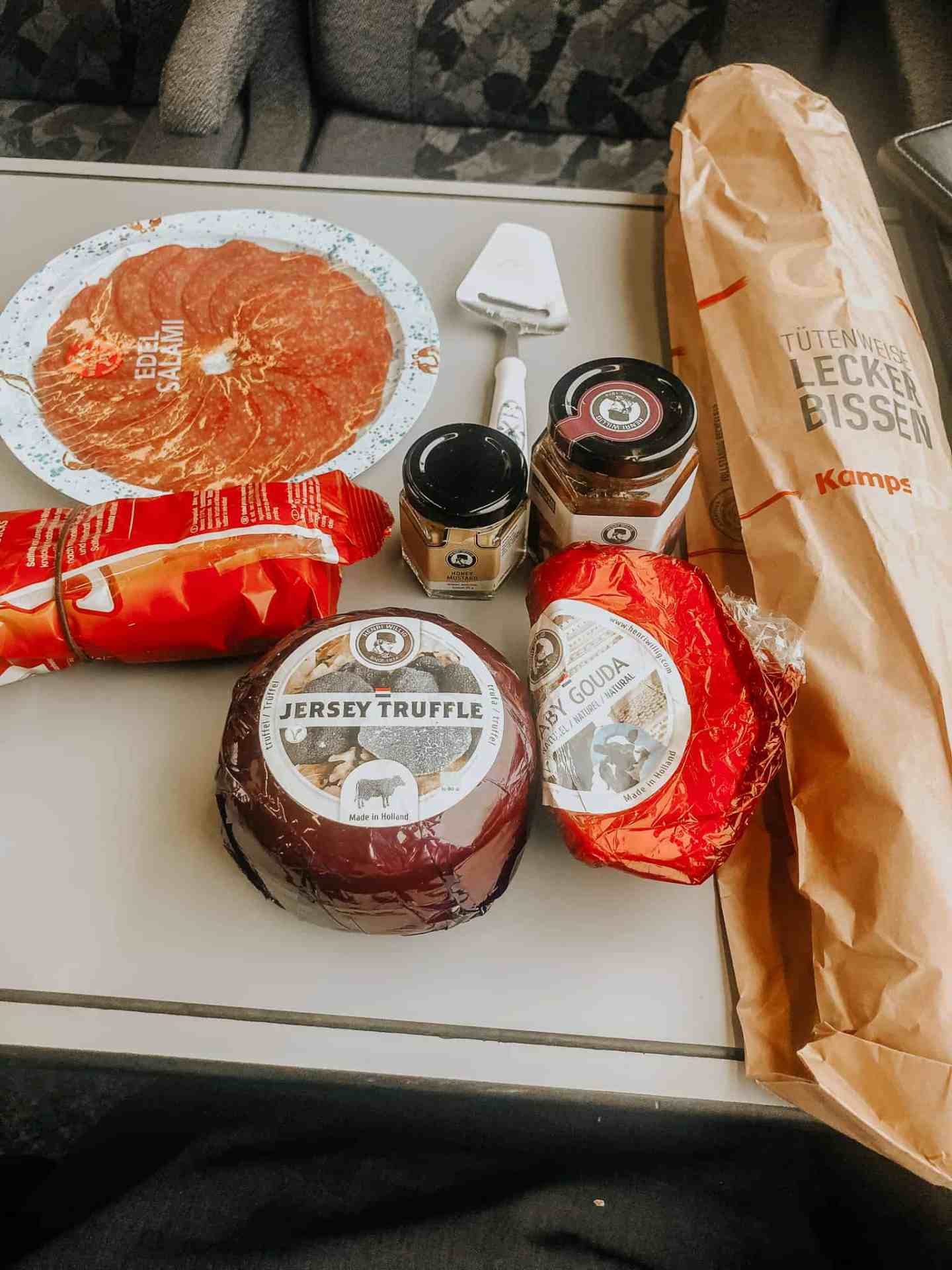 Snacks for the train trip