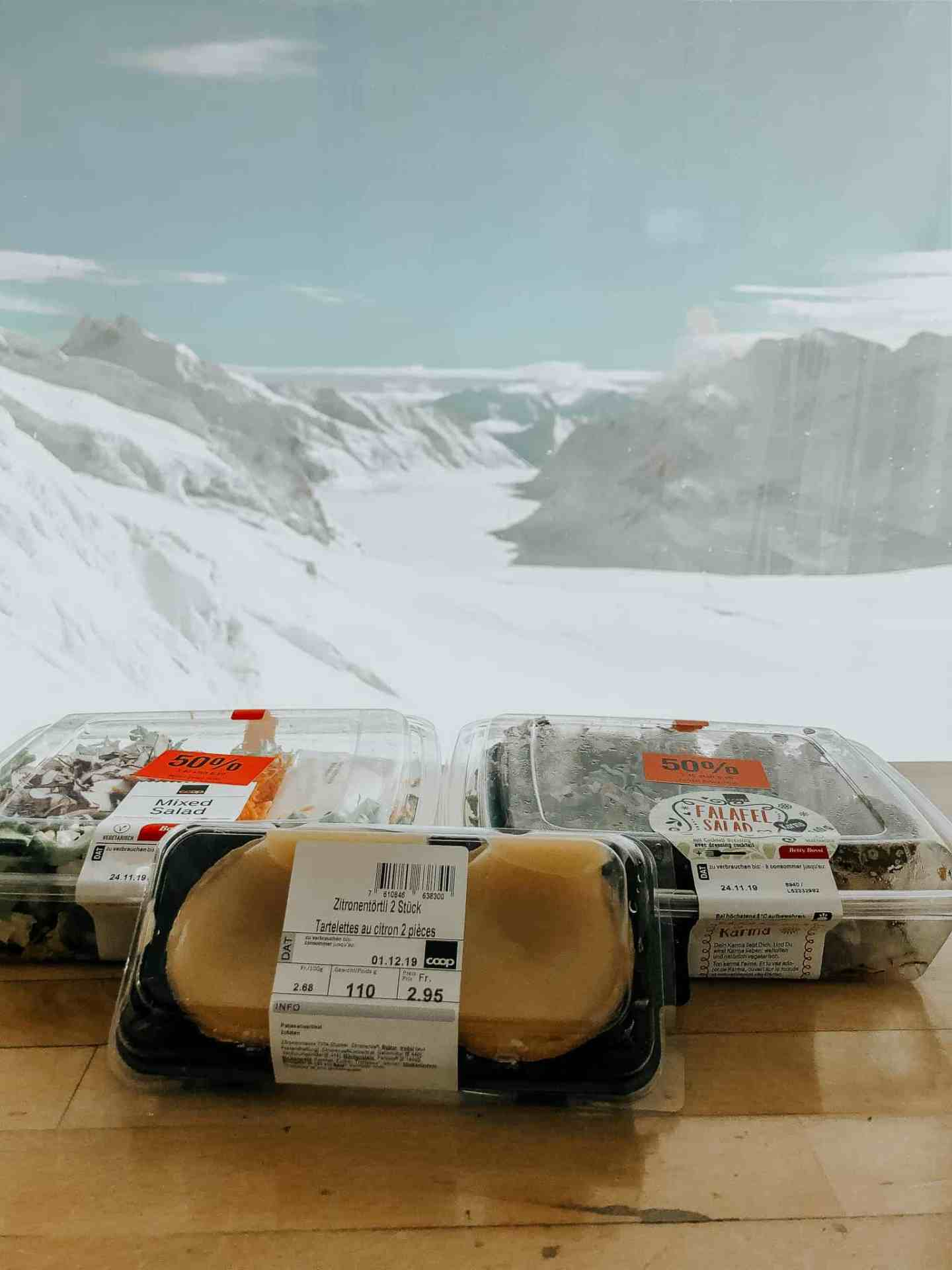 """Yes, we did take our own salads up to the """"Top of Europe"""""""