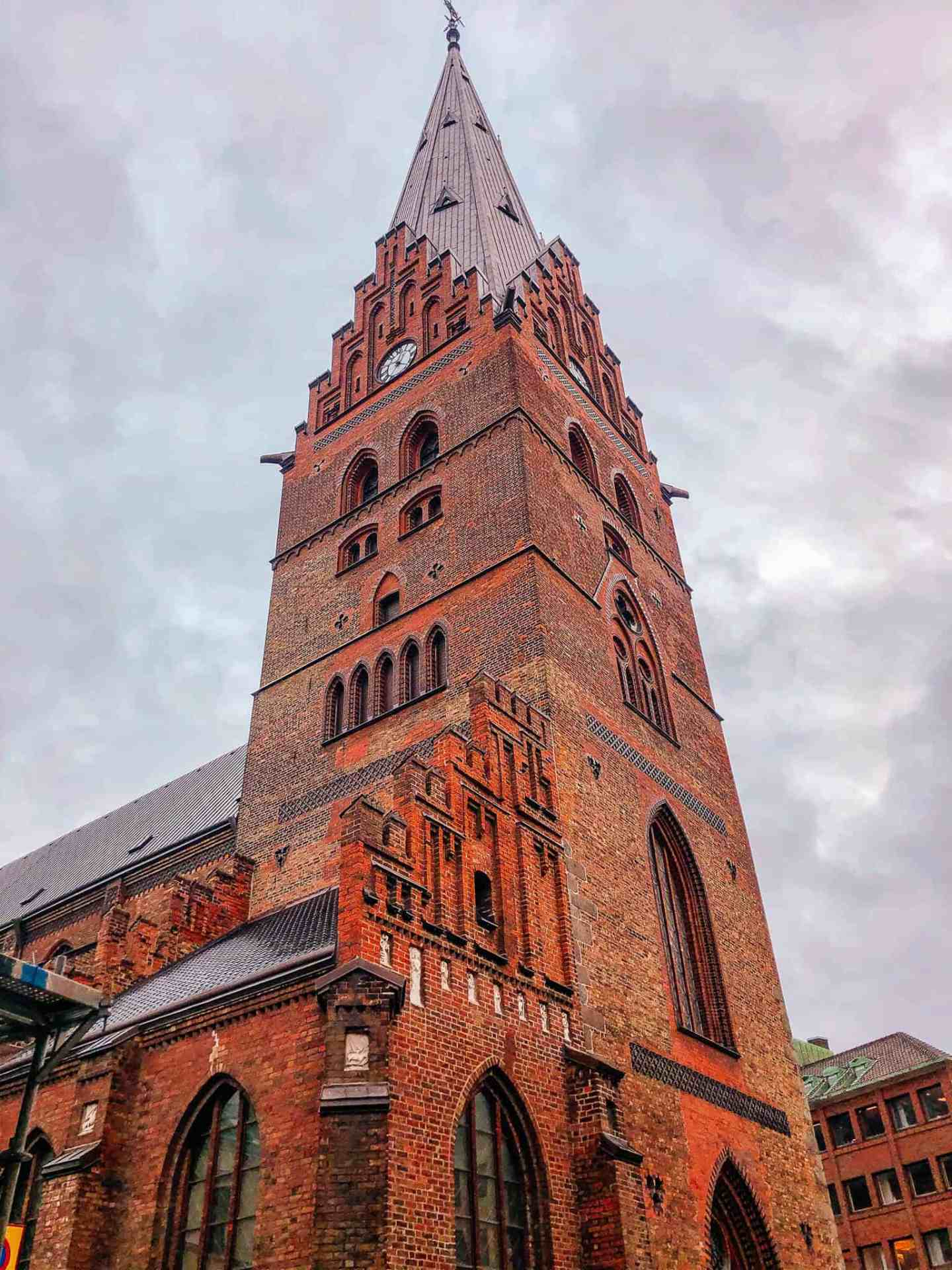 Copenhagen to malmo - brown church spire