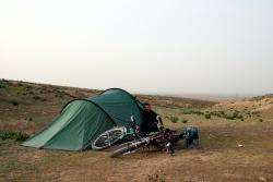 Our Hilleberg tent served us well but for many bike tours a cheaper tent might do the job just as well.