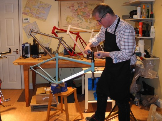 Richard, the bike builder in charge of constructing the Expedition touring bike.