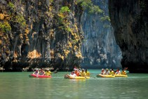 Discovering the limestone cliffs on a canoe, high on our list