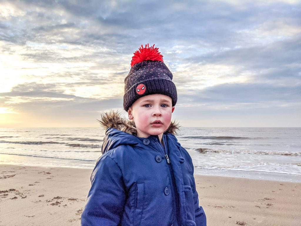 Dexter in Ainsdale beach during the winter months