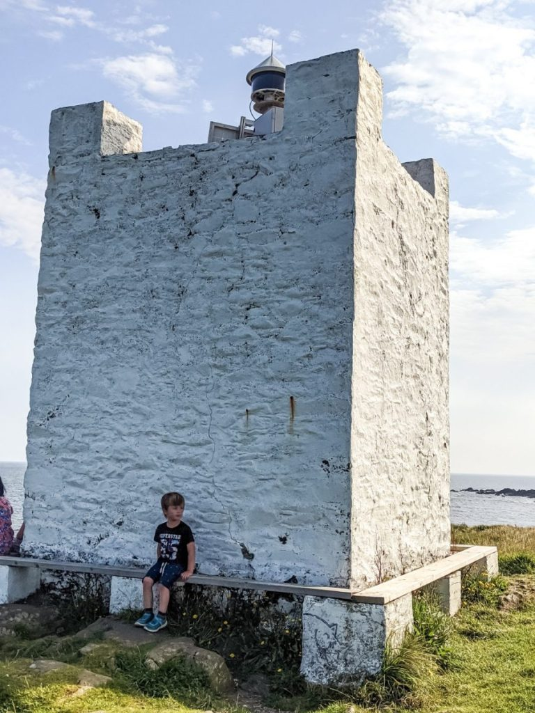 Dexter at the Isle of Whithorn tower