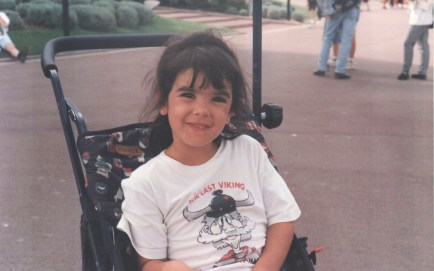 Futuroscope. 1996. Me in my baby stroller.