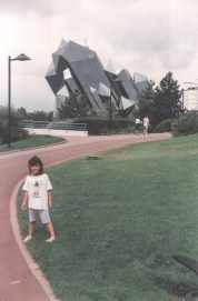 Futuroscope, 1996. Detail of main building.