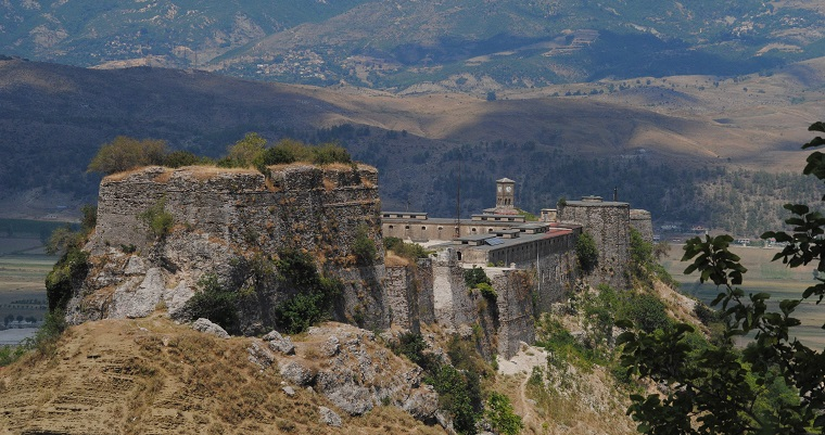 The beautiful and charming town Gjirokastra