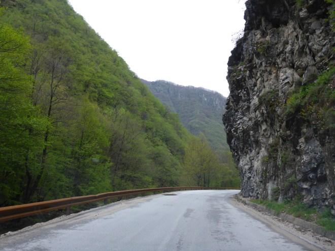 Narrow roads.