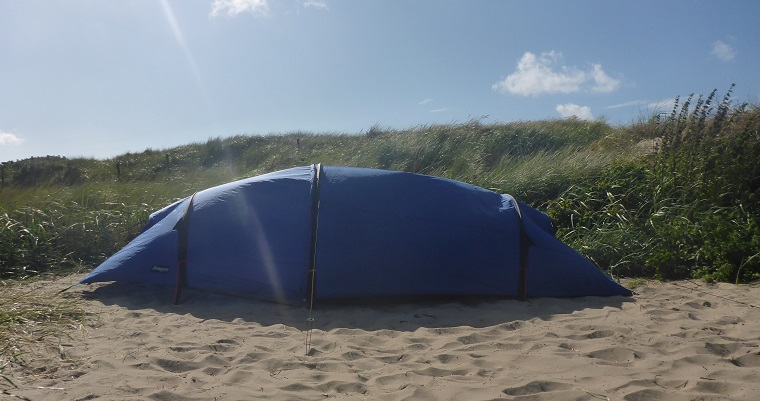 The overnight stay in the sandy dune!