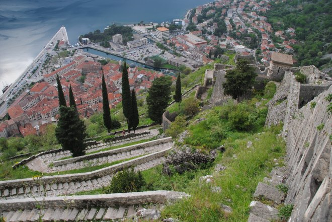 Walking the city wall in Kotor 7