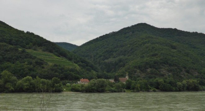 A village by Donau in the Wachau area, Austria