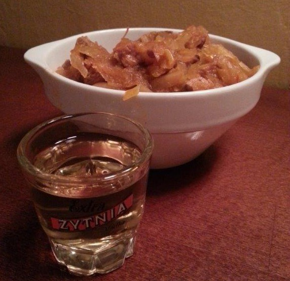 Bigos and vodka at Zakąski i wódka.