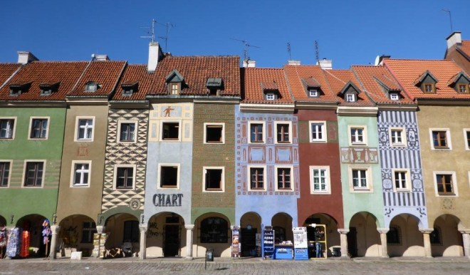 Craftmen houses in Poznan market square