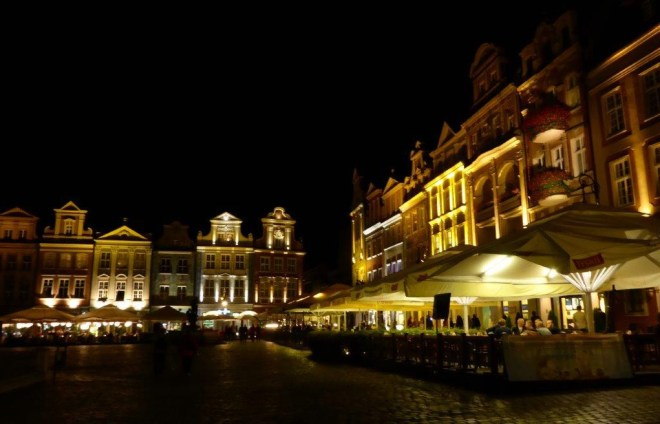 Poznan Old Market Square by night 3