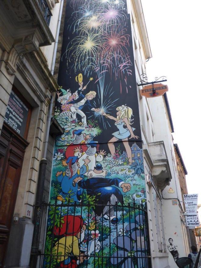 Olivier Rameau mural in Brussels, Belgium