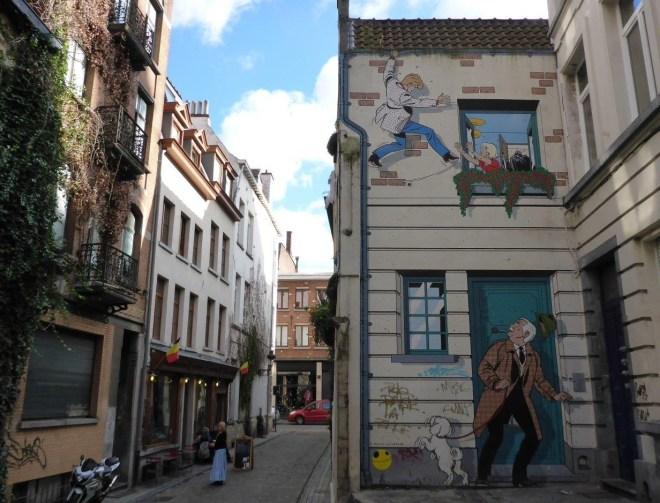 Ric Hochet mural in Brussels, Belgium