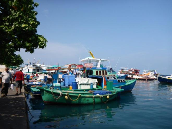 The harbour in Male, the Maldives