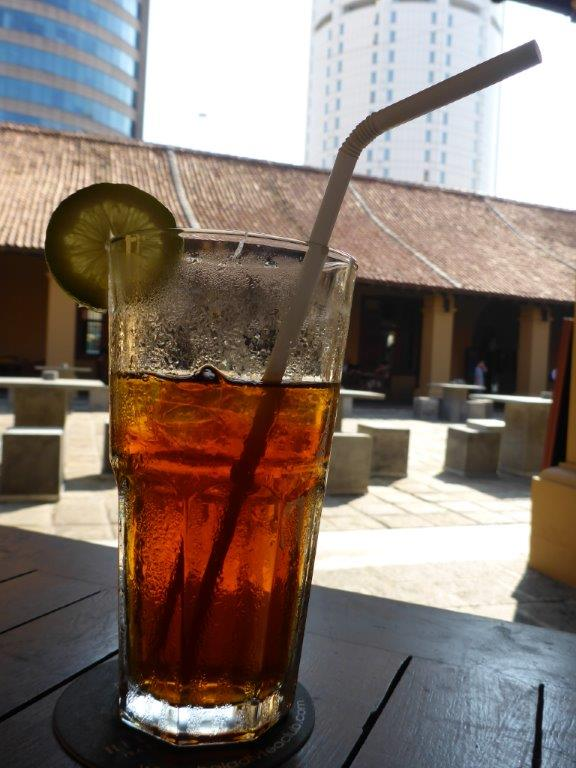 Nice ice tea at Dutch Hospital in Colombo
