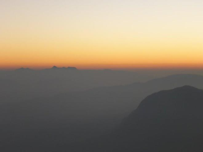 Sunrise seen from the top of Adam's Peak in Sri Lanka 2