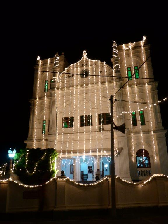 Galle Mosque by night.
