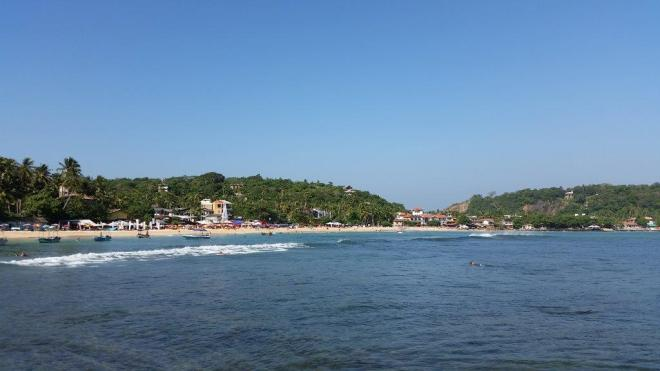 The beach in Unawatuna 2