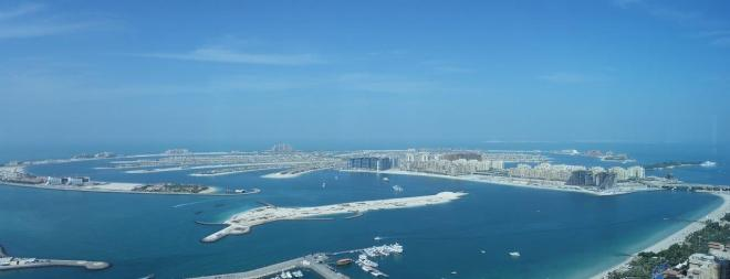 View of Palm Jumeirah from The Observatory at Dubai Marriott Harbour Hotel & Suites