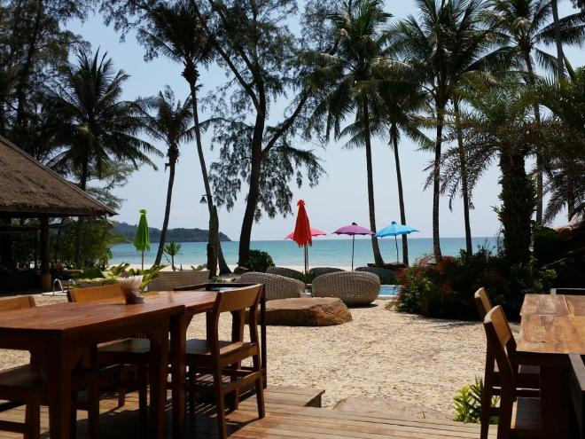 Lunch view at Tinkerbell at Koh Kood