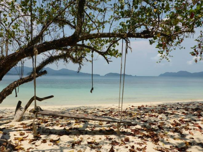 Peaceful outside our bungalow at Good Feeling at Koh Wai, Thailand
