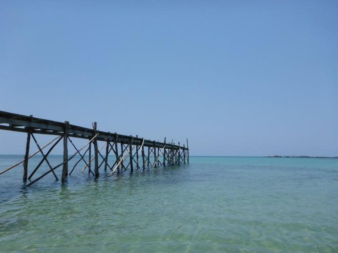 The pier at Dusita Resort, Koh Kood