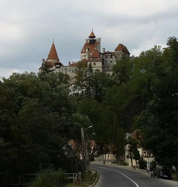 Bran Castle on the hill