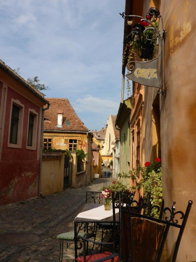 Medieval Cafe in Sighisoara, Romania