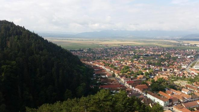 View from Rasnov Citadel
