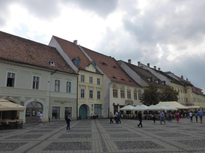 A part of the Large Square in Sibiu, Romania
