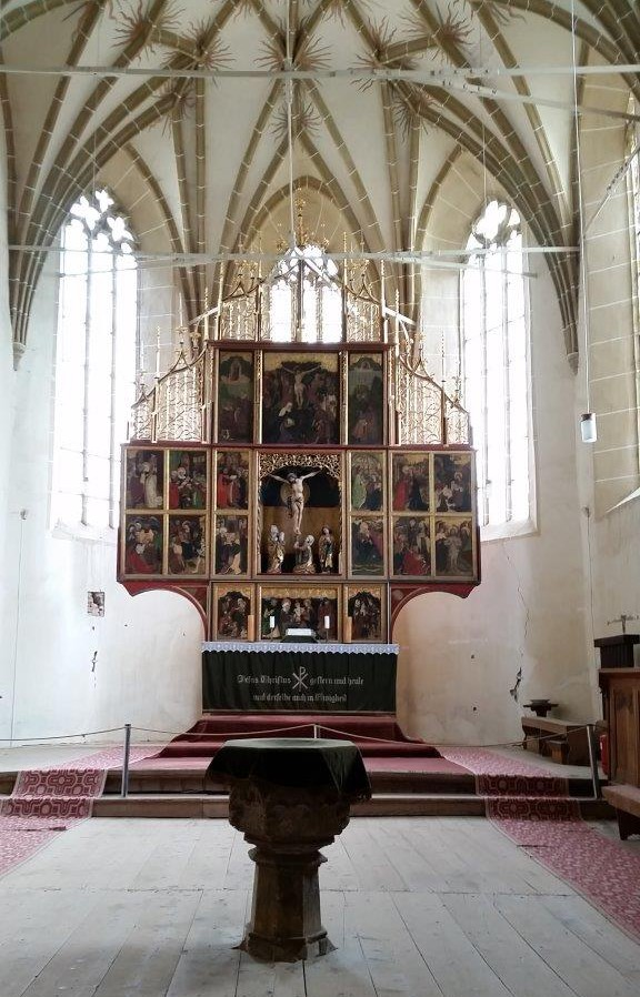 The wooden altar in Biertan fortified church