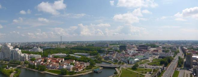 A great view of Minsk, Belarus seen from The View