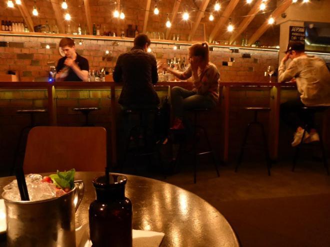 Amazing drink at Cherdak bar in Minsk, Belarus