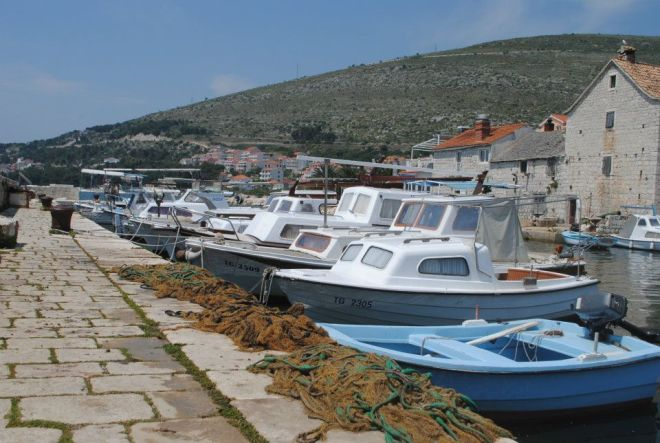 Fishing boats near Trogir, Croatia