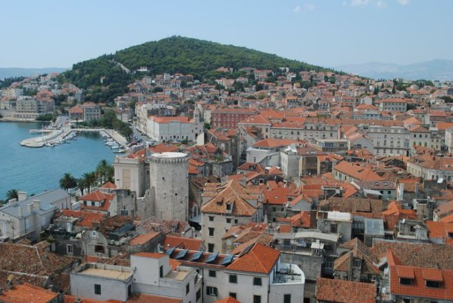 View of the old town in Split, Croatia