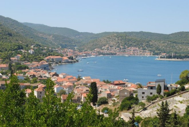 View of Vis Town on Vis Island, Croatia