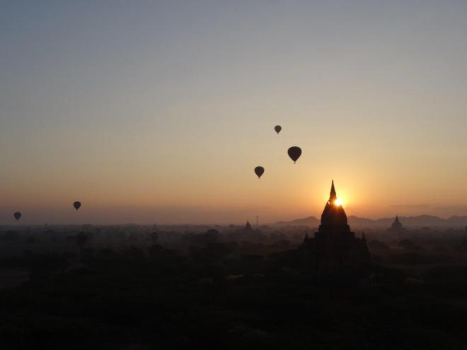 Magic sunrise in Bagan. Myanmar