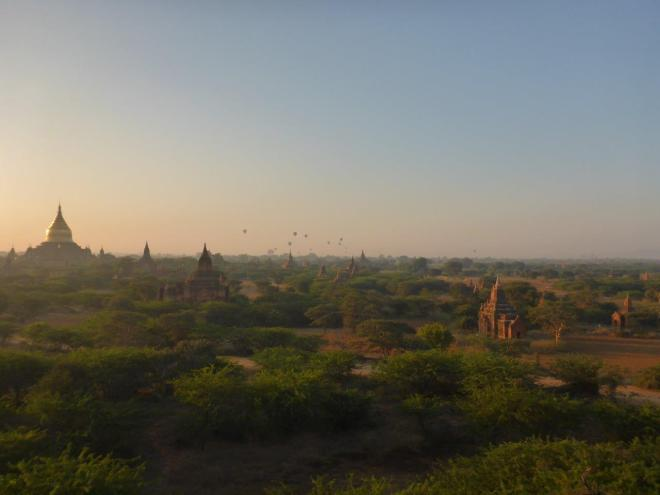 Morning glow in Bagan, Myanmar