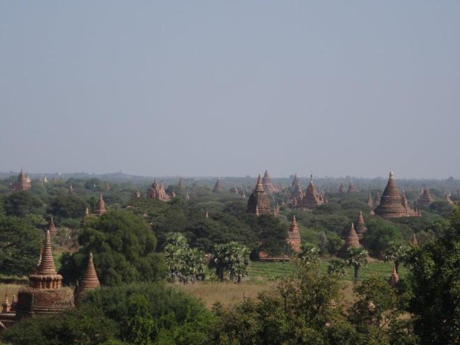 View from Shwe san daw pagoda. Bagan, Myanmar