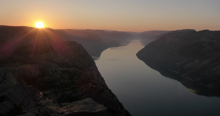 Three shades of the Pulpit Rock; sunset, sunrise and noon!