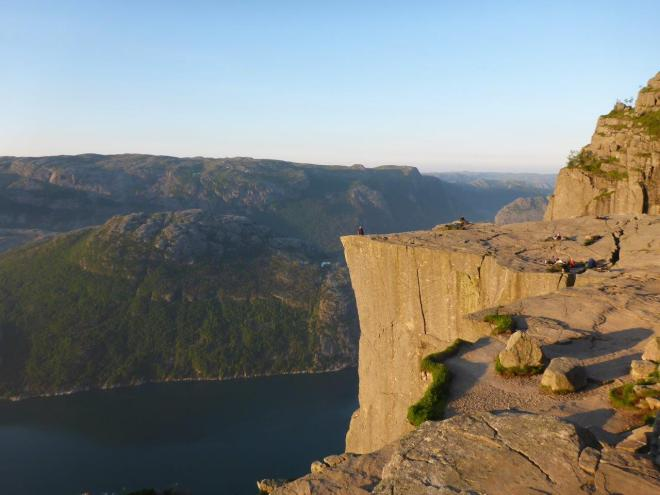 The Pulpit Rock is glowing! Preikestolen, Norway
