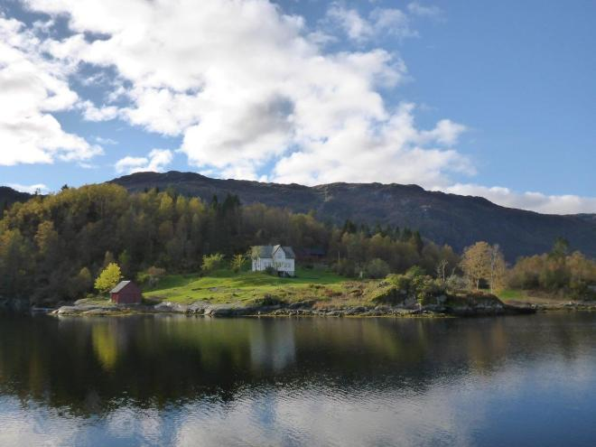 Nice surroundings on the Fjordcruise to Mostraumen outside Bergen. Norway
